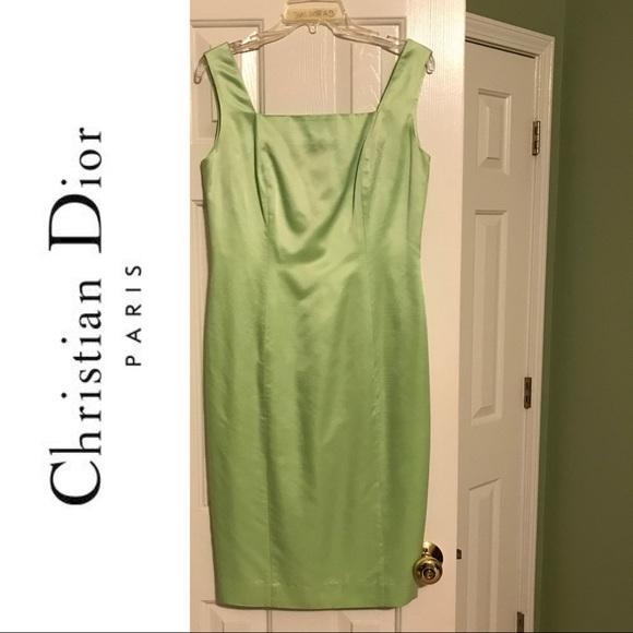 CHRISTIAN DIOR Lime Green Dress Size 6